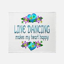 Line Dancing Heart Happy Throw Blanket