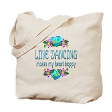 Line Dancing Heart Happy Tote Bag