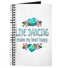 Line Dancing Heart Happy Journal