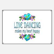 Line Dancing Heart Happy Banner