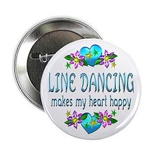 "Line Dancing Heart Happy 2.25"" Button"
