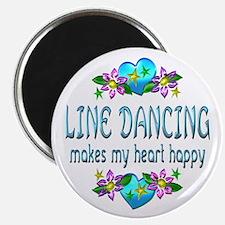 "Line Dancing Heart Happy 2.25"" Magnet (10 pack)"