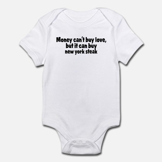 new york steak (money) Infant Bodysuit