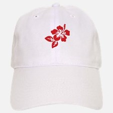 Red Hibiscus Tropical Hawaii Flower Cap