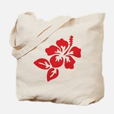 Red Hibiscus Tropical Hawaii Flower Tote Bag