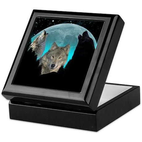 Wolves Twilight Harvest Moon Keepsake Box