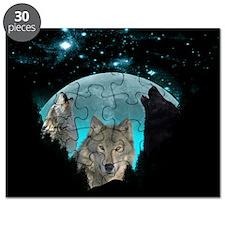 Wolves Twilight Harvest Moon Puzzle