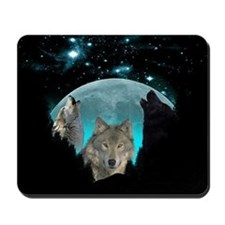 Wolves Twilight Harvest Moon Mousepad