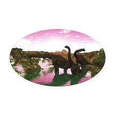 Brachiosaurus Oval Car Magnet