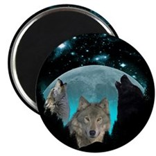 Wolves Twilight Harvest Moon Magnets