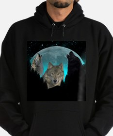 Wolves Twilight Harvest Moon Hoodie