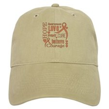 Endometrial Cancer Hope Words Baseball Cap