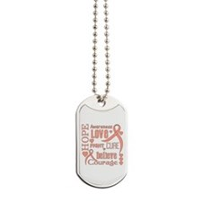 Endometrial Cancer Hope Words Dog Tags