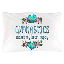 Gymnastics Heart Happy Pillow Case