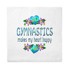 Gymnastics Heart Happy Queen Duvet