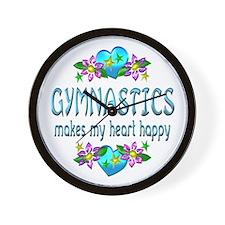 Gymnastics Heart Happy Wall Clock