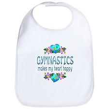 Gymnastics Heart Happy Bib