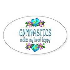 Gymnastics Heart Happy Decal
