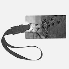 Dragonfly Black & White Luggage Tag