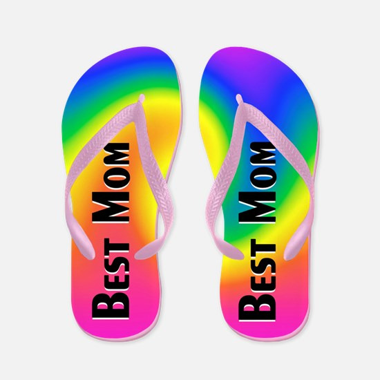 Abstract Mom Flip Flops