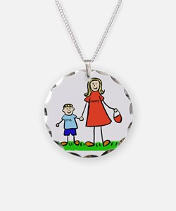 Mother and Son (Blond) Necklace