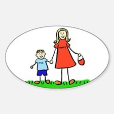 Mother and Son (Blond) Decal