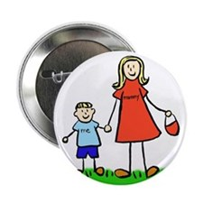 "Mother and Son (Blond) 2.25"" Button (100 pack)"