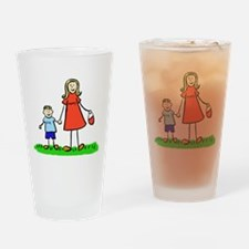 Mother and Son (Blond) Drinking Glass