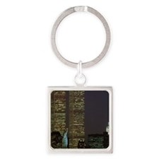 Twin towers that desk Square Keychain