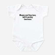 lima beans (money) Infant Bodysuit