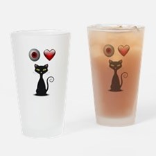 LOVE CATS Drinking Glass
