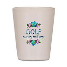 Golf Heart Happy Shot Glass