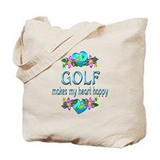 Golf Heart Happy Tote Bag
