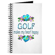 Golf Heart Happy Journal