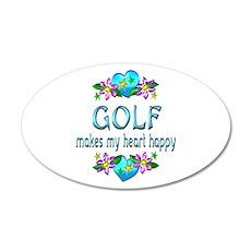 Golf Heart Happy Wall Decal