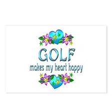 Golf Heart Happy Postcards (Package of 8)
