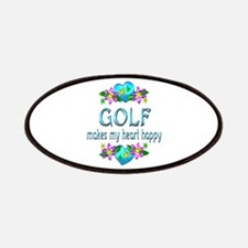 Golf Heart Happy Patches