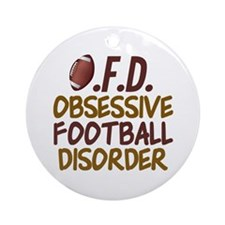 Funny Football Ornament (Round)