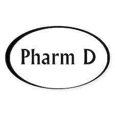 pharm d oval sticker Decal