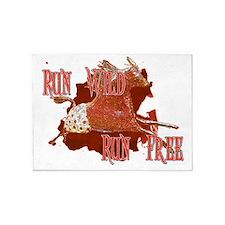 Run Wild, Run Free Horse 5'x7'Area Rug