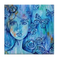 Blue Mist Lady Tile Coaster