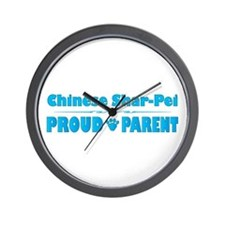 Shar-Pei Parent Wall Clock