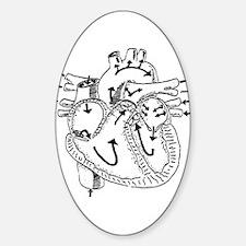 Heart Flow Sticker (oval)