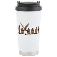 Cute Zebra finches Travel Mug
