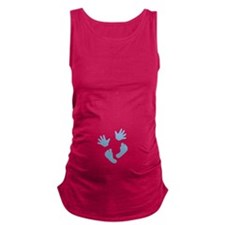 Baby Hands and Feet 2013 Blue Maternity Tank Top