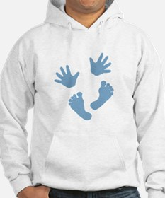 Baby Hands and Feet 2013 Blue Hoodie