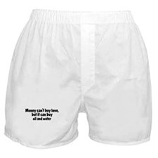 oil and water (money) Boxer Shorts