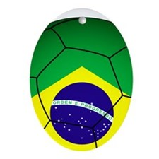 Brazil Soccer 2014 Ornament (Oval)