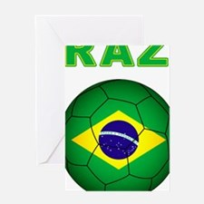 Brazil Soccer 2014 Greeting Cards