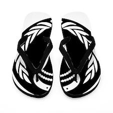 Lacrosse_Round_VW_Blk Flip Flops